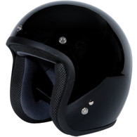 Torc T50 Classic Open Face Helmet in Gloss Black