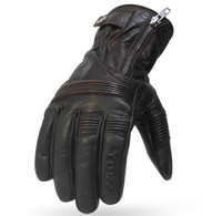 Torc Cajon Leather Moto Gloves in Brown