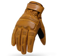 Torc Fullerton Leather Moto Gloves in Gold