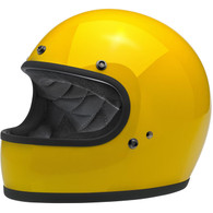 Biltwell Gringo Full Face Motorcycle Helmet in Safe-T Yellow  - Overview
