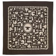 Biltwell Camp Mandana Bandana in Camp Coffee/Tan
