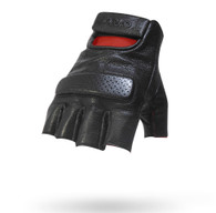 Torc Oxnard Fingerless Leather Moto Gloves in Black