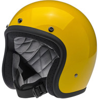 Biltwell Bonanza Motorcycle Helmet in Safe-T Yellow - Overview