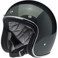 Biltwell Bonanza Motorcycle Helmet in Sierra Green - Overview