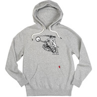 Biltwell Giant Pullover Hoodie in Grey - Front