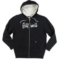 Biltwell Flash Sherpa Hoodie in Black - Front