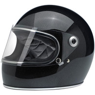 Biltwell Gringo-S Full Face Moto Helmet in Midnight Black Miniflake - Overview
