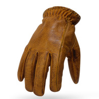 Torc Venice Leather Moto Gloves in Gold