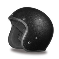 Daytona Cruiser 3/4 DOT-Approved Motorcycle Helmet in Black Metal Flake - Overview