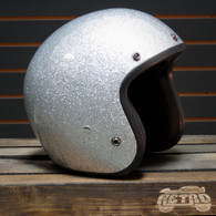 Daytona Cruiser Moto Helmet in Silver Metalflake - Overview