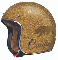 """BLOWOUT! Torc DOT 3/4 Helmet """"Grizzly"""" - Gold Flake"""