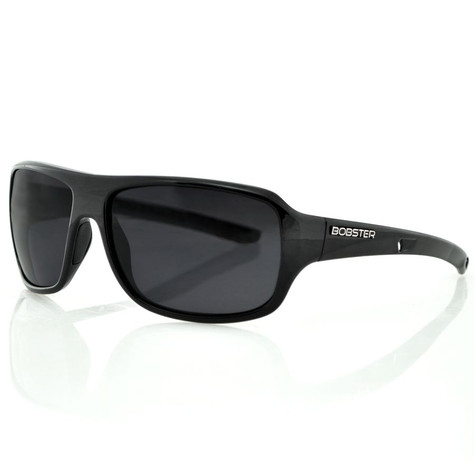 Bobster Informant Sunglasses in Black with Smoke Lenses - Front