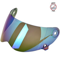 Biltwell Anti-Fog Lane Splitter Shield in Rainbow Mirror - Overview