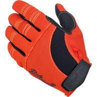 Biltwell Moto Gloves in Orange/Black with Yellow Trim - Top