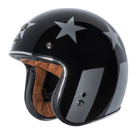 "Torc T50 ""Captain"" Moto Helmet in Black - Left Side"