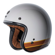 "Torc T50 ""ISO Bars"" Moto Helmet in White - Left Side"