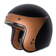 "Torc T50 ""Copper Crow"" Moto Helmet in Flat Black - Left Side"