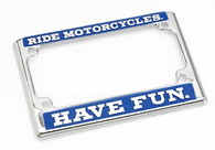 Biltwell Die-Cast License Plate Frame with RMHV inscription