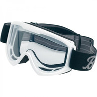 Biltwell Moto Motorcycle Goggles in White - Front