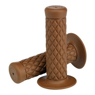 Biltwell Thruster Motorcycle Grips in Chocolate