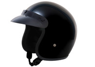 CHILDREN'S Daytona Cruiser 3/4 Open Face D.O.T. Helmet in Hi-Gloss Black