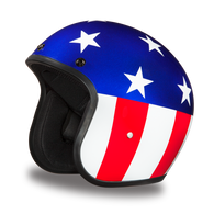 Daytona Cruiser 3/4 Open Face D.O.T. Helmet with Captain America design - Front Angle