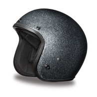 Daytona Cruiser 3/4 DOT-Approved Motorcycle Helmet in Gun-Metal Flake - Overview
