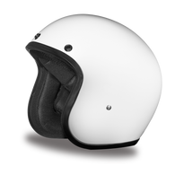 Daytona Cruiser 3/4 Open Face DOT Helmet in Hi-Gloss White - Front Angle