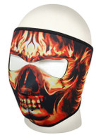 Daytona Face Mask in Skull with Flames