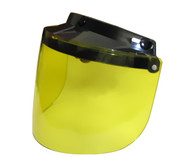 Daytona Flip Up Visor for All 3-Snap Helmets with Yellow Lens