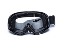 RBG Moto Goggles in Black with Clear Lens.