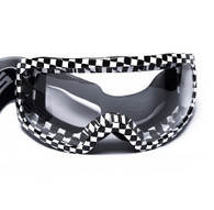 RBG Moto Goggles in Checkered Flag pattern with Clear Lens.