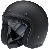 Biltwell Bonanza 3/4 DOT-Approved Motorcycle Helmet in Flat Black - Overview