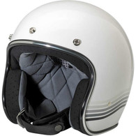Biltwell Bonanza 3/4 DOT-Approved Motorcycle Helmet in Limited Edition Spectrum White/Silver - Overview
