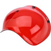 Biltwell Bubble Shield for 3-Snap Helmets in Translucent Red - Overview