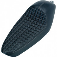 Biltwell Cafe Seat in Black Vinyl Checkerboard pattern