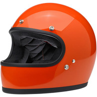 Biltwell Gringo Full Face Helmet in Gloss Hazard Orange - Overview