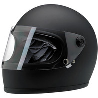 Biltwell Gringo-S full face helmet with visor in Flat Black - Overview