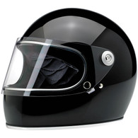 Biltwell Gringo-S full face helmet with visor in Gloss Black - Overview