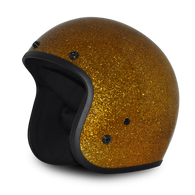 Gold Metalflake Daytona Cruiser 3/4 DOT Helmet