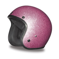 Daytona Cruiser 3/4 DOT-Approved Motorcycle Helmet in Pink Metal Flake - Overview