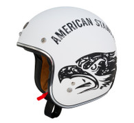 Torc DOT 3/4 Helmet - American Standard (Flat White) - left side