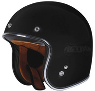 Torc T50 DOT-Approved Open-Face 3/4 Motorcycle Helmet in Flat Black - Overview