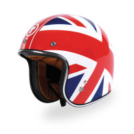 Torc T50 DOT 3/4 Motorcycle Helmet with Union Jack British Flag Graphics