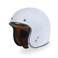 Torc T50 DOT 3/4 Motorcycle Helmet in Gloss White