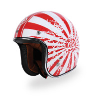Torc T50 Motorcycle Helmet with Japanese Bobber Paint Scheme