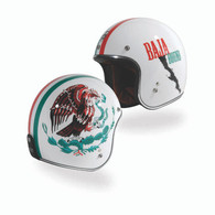 Torc T-50 Open Face 3/4 Helmet with Baja Bound paint scheme - both sides