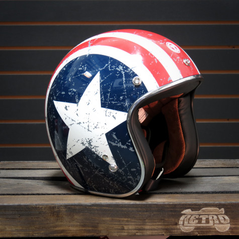 Torc T50 Open Face Helmet Rebel Star