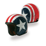 Torc T50 Motorcycle Helmet with Rebel Star Paint Scheme