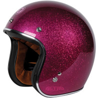 Torc 3/4 Open Face DOT-Approved Motorcycle Helmet in Super Flake Bubble Gum Pink - Overview